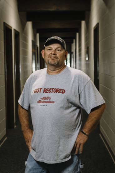 """Rusty King, a custodian at the First Presbyterian Church: """"Our borders, we can't open it to everybody."""""""