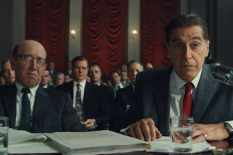 Al Pacino as Jimmy Hoffa in Martin Scorsese's <i>The Irishman</i>, destined for Netflix, and cinemas, this month.