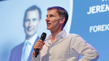 UK Foreign Secretary and Tory leadership candidate Jeremy Hunt.
