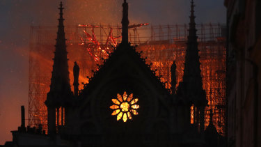Image result for notre dame cathedral burning