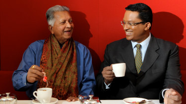 Father and son, Merrill and Dilhan Fernando, founders of Dilmah tea in 2013.