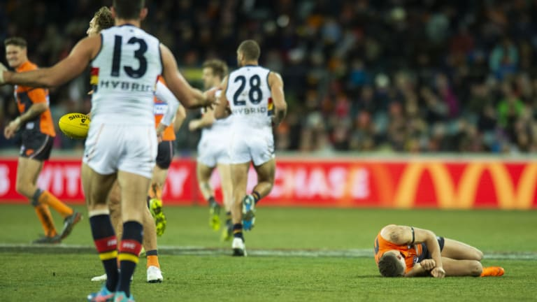 Josh Kelly was concussed after a sling tackle by Taylor Walker.