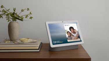 The Nest Hub Max can be used for video calls, or to send and receive video messages.