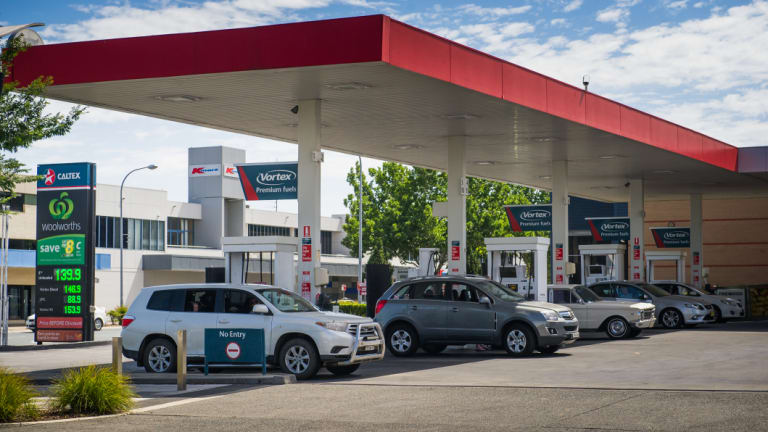 The Queanbeyan Caltex petrol station had a regular stream of customers on Friday.