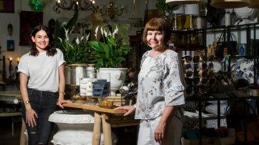 Designer Op Shop Emporium owners Taylor and Sharyn Pitsilos.