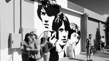A mural along Bee Gees Way, which features a light show set to Bee Gees songs each night.