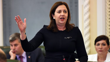 The Queensland Premier apologises to Parliament.