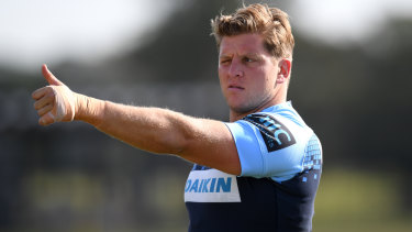 Hooker Damien Fitzpatrick will be one of the Waratahs' old heads in 2020.