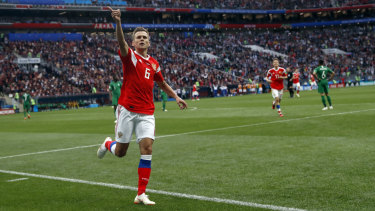 Wonderstrike: Denis Cheryshev found the scoresheet twice, but his second goal was an absolute pearler.