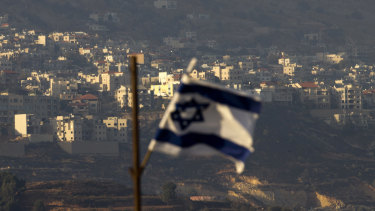 An Israeli flag in the Israeli-controlled Golan Heights.