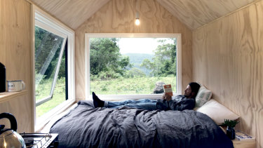 The Heike cabin, one of six Unyoked cabins where visitors can get away from their busy lives and unplug.