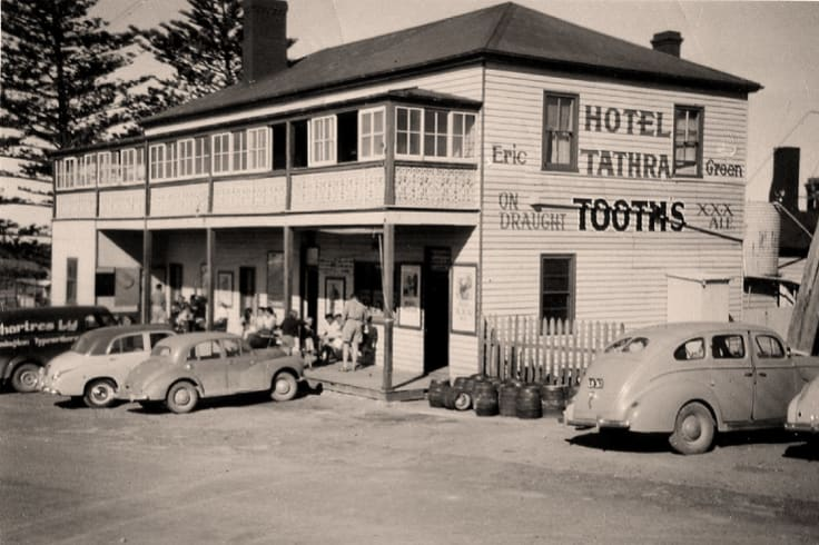 A photo of the hotel taken in the mid 20th century.