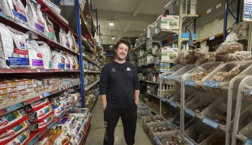 Damien Kirby, Manager of Upmarket Pets pet store in the Melbourne CBD, says sales were up over the weekend.