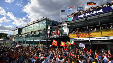 Sebastian Vettel won the 2018 F1 GP.