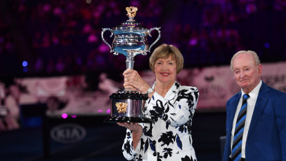Margaret Court ceremony goes off without a hitch as Rod Laver lends a hand