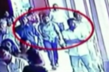 CCTV was released showing a suicide bomber walking into St Sebastian's church.
