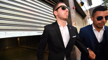 George Panagiotou, 22, is released on bail from Melbourne Magistrates court.