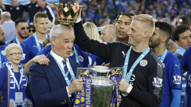 Claudio Ranieri during happier times at Leicester City.