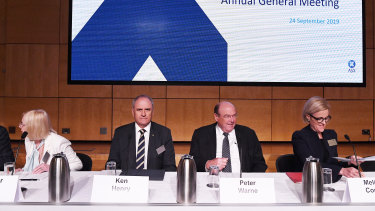 From left: ASX directors Heather Ridout, Ken Henry, Peter Warne and Melinda Conrad.