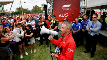 Officials announce the cancellation of the Australian Grand Prix.