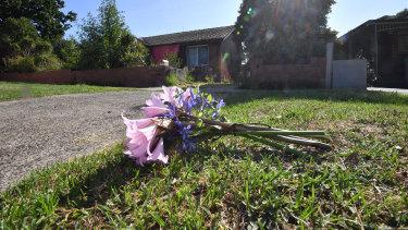Flowers outside Maud Steenbeek's Heidelberg West home.