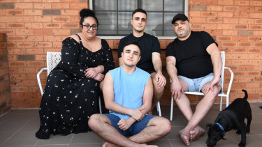 Carol and Stephen Seguna and their two sons Stephen, 21, and Julian, 15. The parents have let both sons decide whether to get vaccinated.