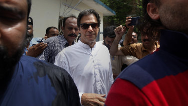 Former cricketer, now elected Prime Minister Imran Khan.