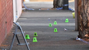 One man was shot dead and two others injured during a late-night shooting at a boxing match.