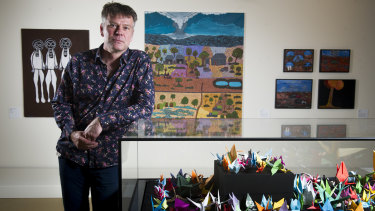 JD Mittmann, curator of Black Mist Burnt Country at the National Museum of Australia.