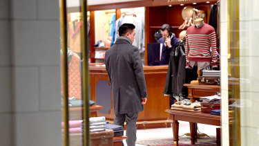 Brooks Brothers in Emporium was reopened on Monday.