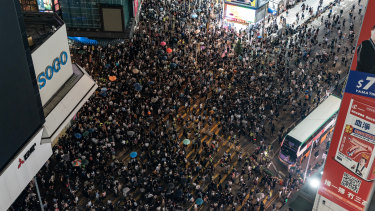 Protesters flooded the streets on Friday after the announcement of the emergency laws.
