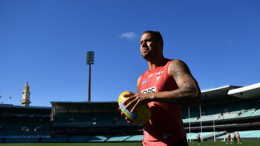 Lance Franklin will play his 300th game on Saturday.
