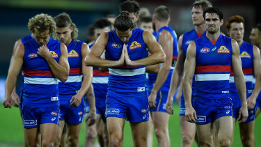 The Bulldogs may be out of the eight at the end of this round after their loss to the Tigers.