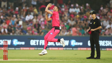 Fit and firing: Sydney Sixers paceman Josh Hazlewood made a successful return from injury.