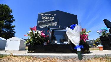 Karen Ristevski's gravestone.