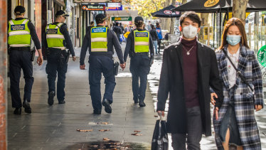 PSOs have been deployed to the Melbourne and Geelong CBDs and shopping strips and centres in Dandenong, Frankston and Box Hill.