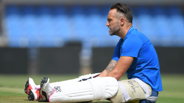 Faf du Plessis' future as Test captain is uncertain.