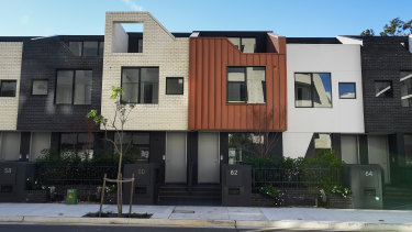 The Honeycomb terraces in Erskineville.