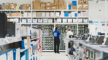 Officeworks has seen a spike in purchases of technology and home office products.