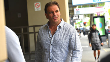 John Setka at an early court appearance.