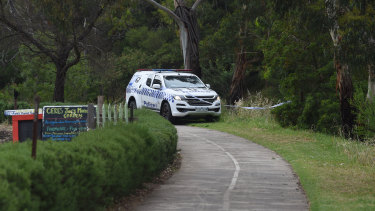 On Wednesday morning, police remained at the scene of an attack on a jogger on the Merri Creek trail in Coburg, which occurred on Tuesday night.