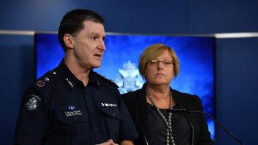 Deputy Commissioner Shane Patton & Minister Lisa Neville.
