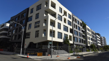 The Sugarcube apartment building development in Erskineville could finally be occupied in coming months.