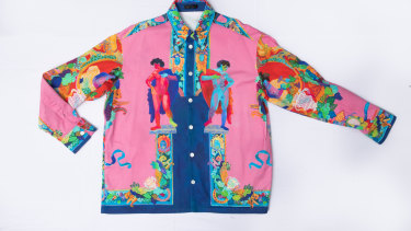 Versace Greek sculpture shirt, $1964