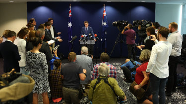 Attorney-General Christian Porter's press conference in Perth this afternoon.
