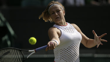 Czech Republic's Karolina Muchova couldn't stop Svitolina's run to the semi-finals.