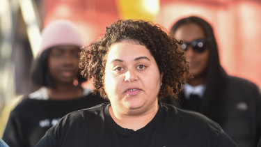 Warriors of Aboriginal Resistance (WAR) organiser Tarneen Onus Williams plans to push ahead with the anti-racism rally and observe social-distancing laws.