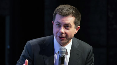 Dropping out: Democratic presidential candidate Pete Buttigieg.