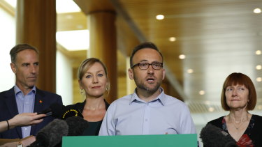 Greens Leader Adam Bandt will stay mute during the party's month-long membership vote on how to elect party leaders.