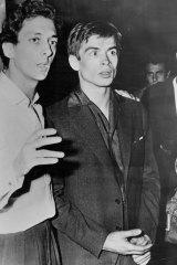 """Rudolf Nureyev  (right) seen with Mr. Larrain, art director of the Marquis De Cuevas Ballt, in Paris."" June 23, 1961"